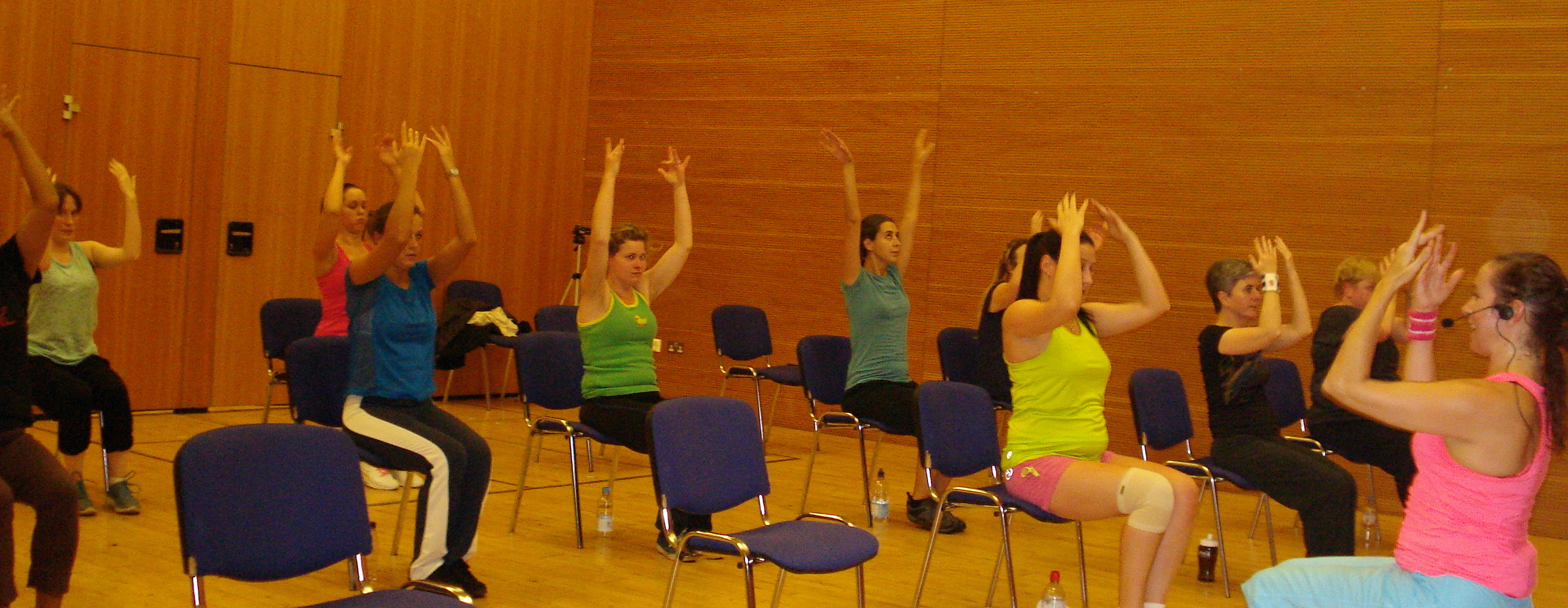 Grab a chair zoe evans fitness solutions for Chair zumba